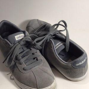 Adidas Neo gray suede sneaker